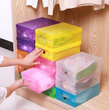 Коробки для взуття прозора зберігання взуттєві box органайзер пластик (3 шт.)