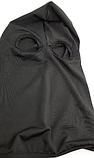 Балаклава с прорезями для глаз белая/черная лайкра lycra подшлемник, фото 3