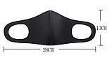 Чорна маска - респіратор від вірусів і бруду для особи РМ2.5 як баф, фото 2