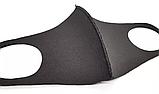 Чорна маска - респіратор від вірусів і бруду для особи РМ2.5 як баф, фото 3