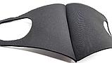 Чорна маска - респіратор від вірусів і бруду для особи РМ2.5 як баф, фото 5
