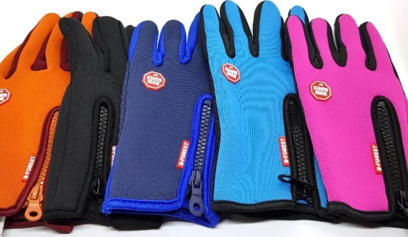 Лижні рукавички Windstopper сенсорні на флісі неопрен зимові спорт