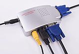 Конвертер відео VGA->RCA/S-Video (тюльпани) ноутбук ->телевізор VGA2AV, фото 2