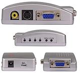 Конвертер відео VGA->RCA/S-Video (тюльпани) ноутбук ->телевізор VGA2AV, фото 3
