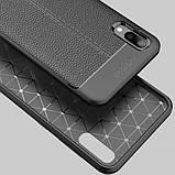 Epik TPU чехол фактурный (с имитацией кожи) для Samsung Galaxy A01, фото 2