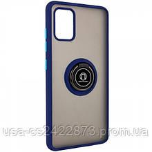 TPU+PC чехол Deen ColorEdgingRing под магнитный держатель для Samsung Galaxy A51