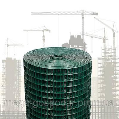 Сварная сетка в ПВХ 12х12мм (25м)