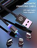 Магнитный Кабель Lovebay Type-C USB 2A Шнур с Подсветкой Усиленный Круглый, фото 3