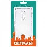 GETMAN TPU чехол GETMAN Transparent 1,0 mm для OnePlus 7T Pro, фото 4
