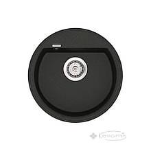 Кухонная мойка Vankor Easy 45x45 black + сифон (EMR 01.45)