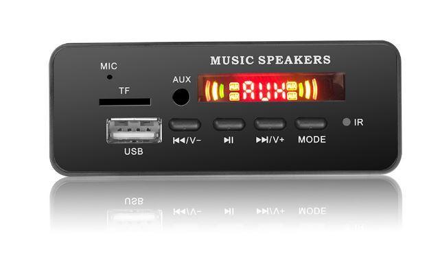 12 В Bluetooth 5,0 MP3 декодер WAV WMA MP3 AUX USB