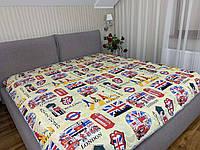 """""""Надписи"""" Летнее одеяло покрывало двуспальный размер 175/210"""
