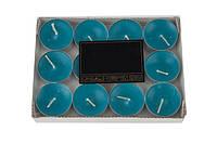 Свечи ароматизированные в металлическом корпусе (10шт), синий
