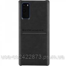 Кожаная накладка G-Case Cardcool Series для Samsung Galaxy S20