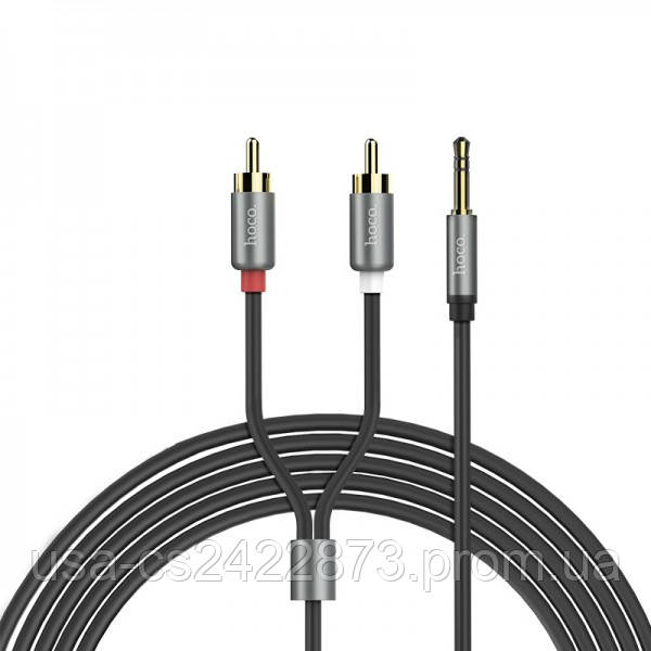 Аудио кабель Aux Hoco UPA10 Lotus Double RCA Audio 3.5 mm (1,5м)