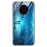 TPU+Glass чехол светящийся в темноте для Huawei Mate 30, фото 3