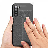 Epik TPU чехол фактурный (с имитацией кожи) для Xiaomi Redmi Note 8, фото 2