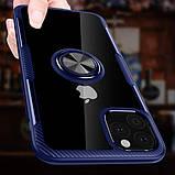 "Deen TPU+PC чехол Deen CrystalRing под магнитный держатель для Apple iPhone 11 Pro (5.8""), фото 2"