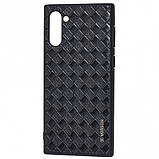 Кожаная накладка VORSON Braided leather series для Samsung Galaxy Note 10, фото 4