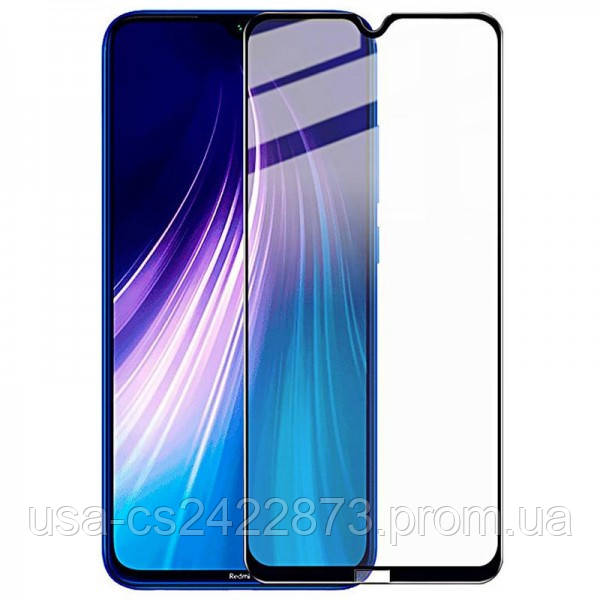 Защитное стекло XD+ (full glue) (тех.пак) для Xiaomi Redmi Note 8