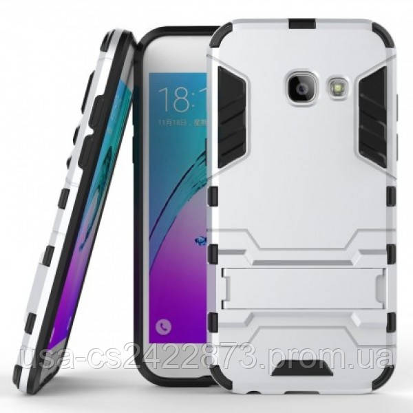 Ударопрочный чехол-подставка Transformer для Samsung A320 Galaxy A3 (2017) с мощной защитой корпуса