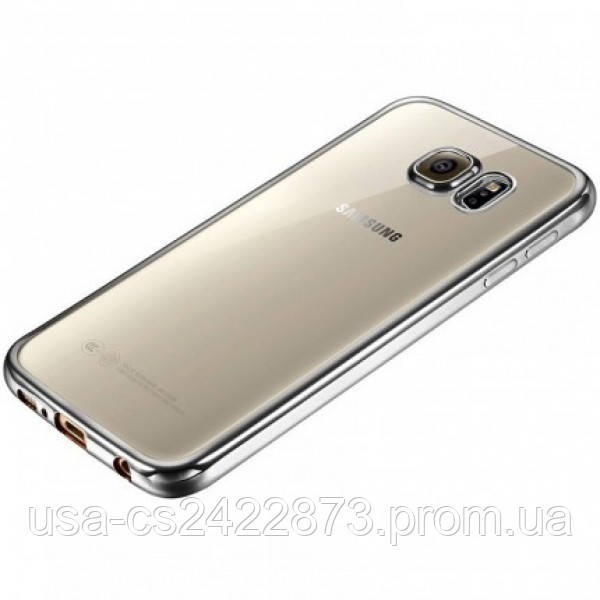 Epik Прозрачный силиконовый чехол для Samsung A320 Galaxy A3 (2017) с глянцевой окантовкой