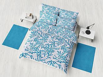 Семейный комплект постельного белья 145х215 (2шт)  «Морской бриз» из бязи голд