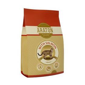 Сухий корм Araton Adult With Salmon для котів вагою від 1 до 8 кг, 15 кг