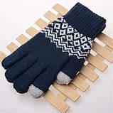 Перчатки сенсорные SHOU с узором, фото 8