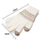 Перчатки сенсорные SHOU с узором, фото 7