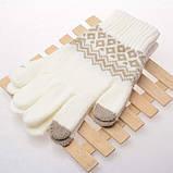 Перчатки сенсорные SHOU с узором, фото 9