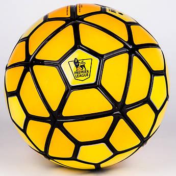 Футбольный Мяч PREMIER LIGA Лаковый №5 FB-5351 оранжево-желтый