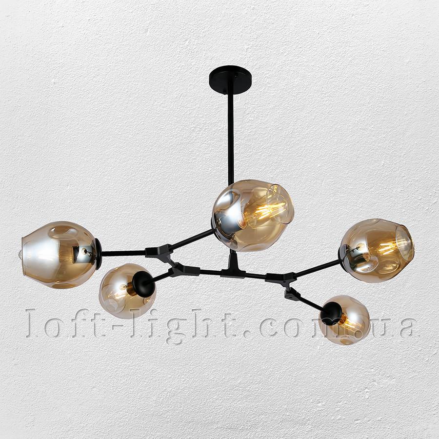 Люстра молекула  52-L7731-5 BK+BR