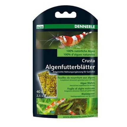 Корм из водорослей для креветок Dennerle Nano Algenfutterblatter, 40 шт, фото 2