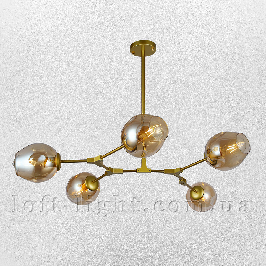 Люстра молекула  52-L7731-5 GD+BR