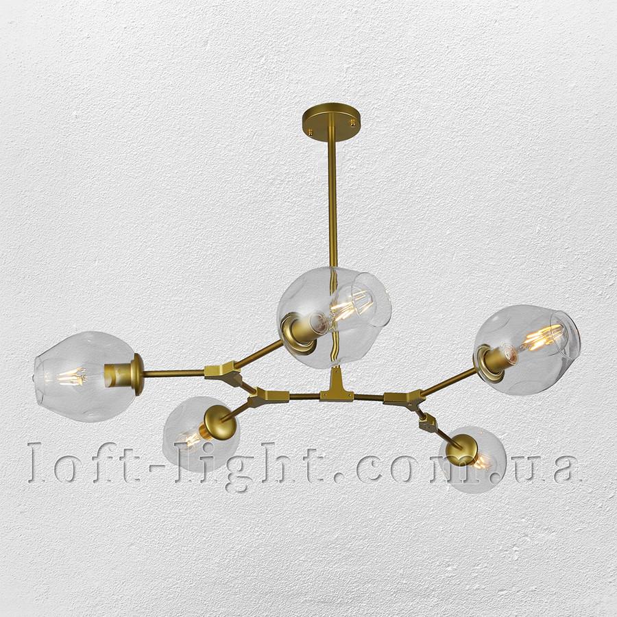 Люстра молекула  52-L7731-5 GD+CL