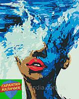 Картина по номерам Стихия воды (цветной холст) 40*50см Розпис по номерах