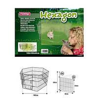 Вольер Flamingo Hexagon для животных, металл, 6 панелей, 100х100х60 см