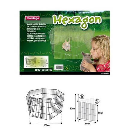 Вольер Flamingo Hexagon для животных, металл, 6 панелей, 100х100х60 см, фото 2