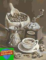 Картина по номерам Утренний кофе Ранкова кава 40х50см KHO2047 Розпис по номерах