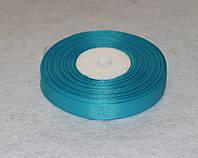 Лента репсовая тёмно-голубая 1,2 см 16766, фото 1
