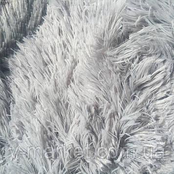 """Хутряний Плед Травичка """"Сірий"""" євро розмір, 220/240 см"""