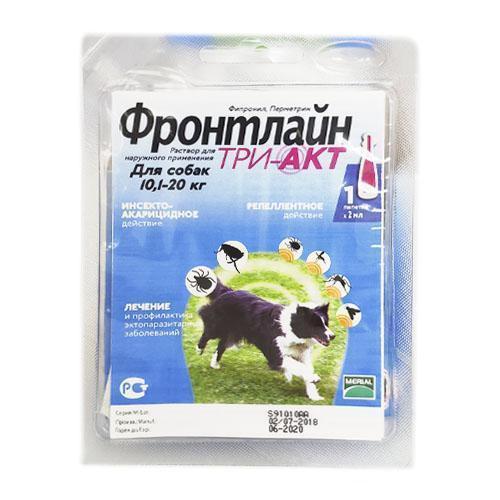 Капли Boehringer Ingelheim Frontline TRI-AKT M против эктопаразитов для собак от 10 до 20 кг, монопипетка