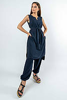 Женский летний костюм Мириам удлиненная туника и брюки 42-52 размеры разные расцветки