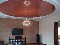 Натяжной потолок в форме круга