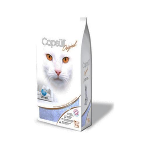 Наполнитель Capsull Original baby powder кварцевый, для кошачьего туалета, капсулы 1-8 мм, 7.2 кг