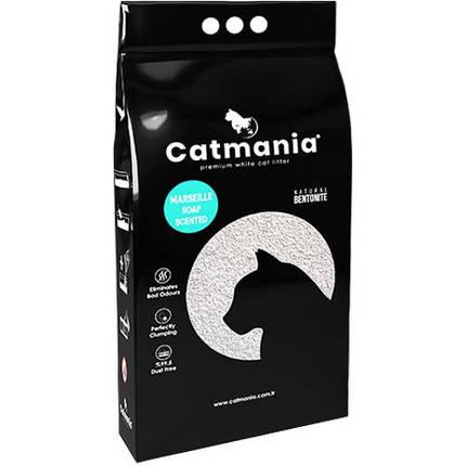 Бентонитовый наполнитель Catmania для кошек с запахом марсельского мыла, бирюзовые гранулы, 5 л, фото 2