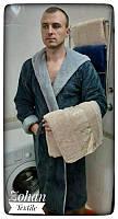 Мужской набор Махровый халат с бамбуковым полотенцем (Все размеры)  Welsoft , Турция