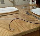 Прозрачная силиконовая скатерть на стол Soft Glass Защита для мебели 1.0х2.1 м Толщина 2 мм Мягкое стекло, фото 7