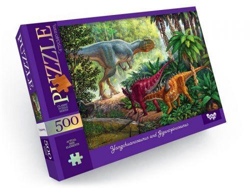 """Пазлы """"Динозавры"""" 500 эл C500-13-01,02,03,04...12"""